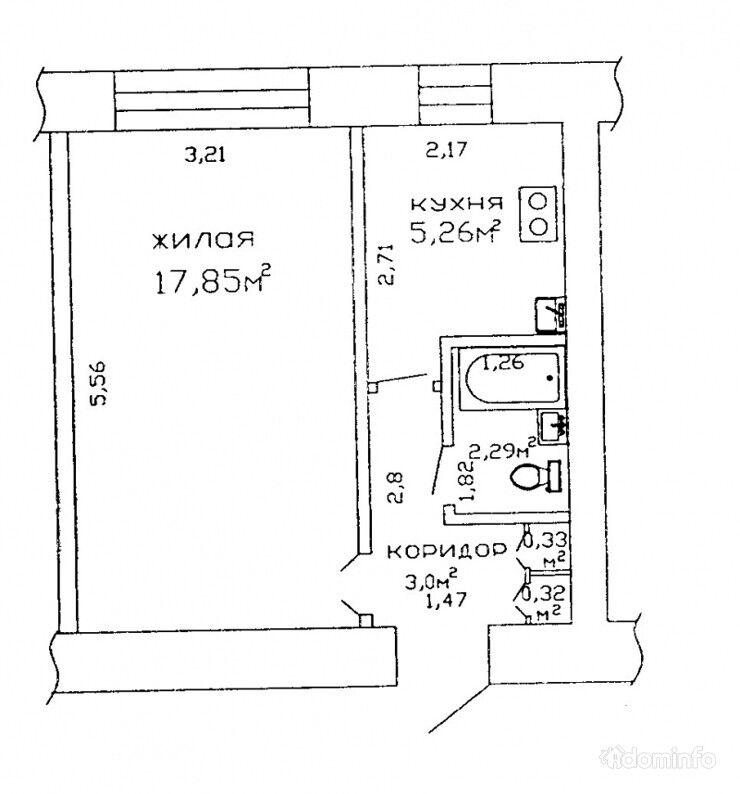 1-комнатная, Гомель, Космонавтов просп. — фото 1