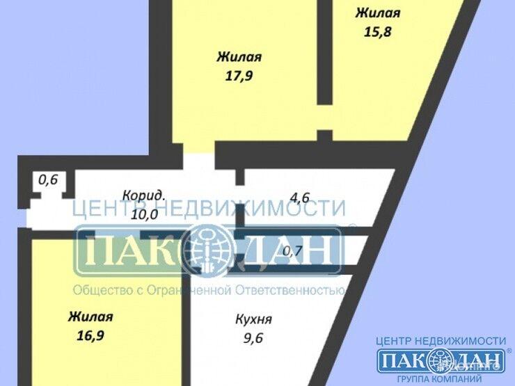 3-комнатная, Заславль, 1 Микрорайон — фото 1