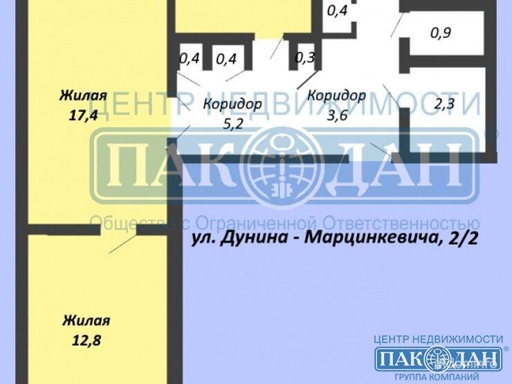 3-комнатная, Минск, Дунина-Марцинкевича ул. — фото 1