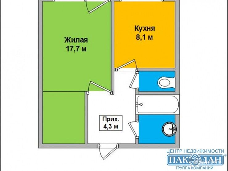 1-комнатная, Борисов, Революции просп. — фото 1