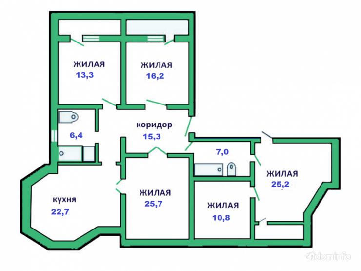 5-комнатная, Минск, Пулихова ул. — фото 1