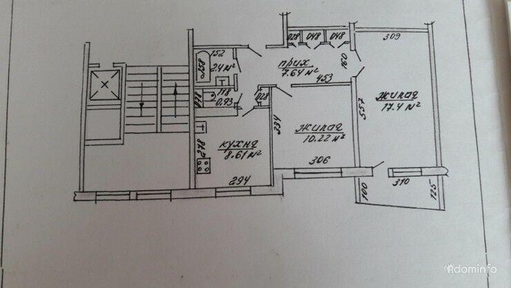 2-комнатная, Борисов, Строителей ул. — фото 1
