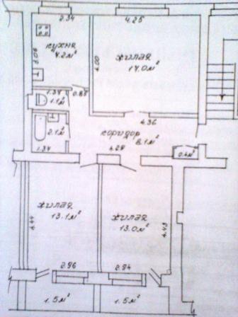 3-комнатная, Барановичи, Фабричная ул. — фото 1