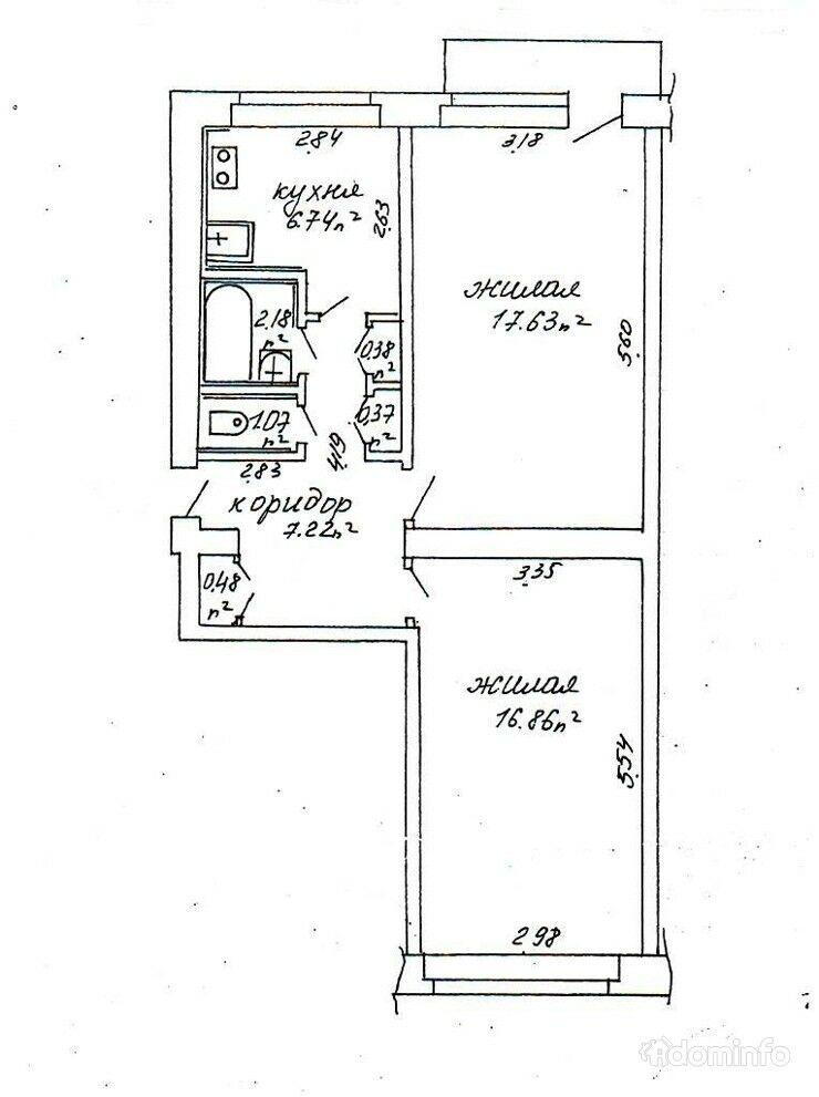 2-комнатная квартира. г. Минск, ул. Ташкентская, 18, к. 4 — фото 1