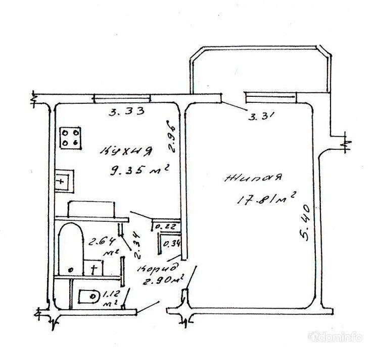 1-комнатная квартира. г. Минск, ул. Охотская, 143, к. 2 — фото 1