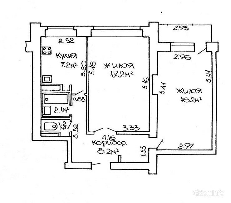 2-комнатная квартира. г. Минск, пр. Независимости, 76 — фото 1