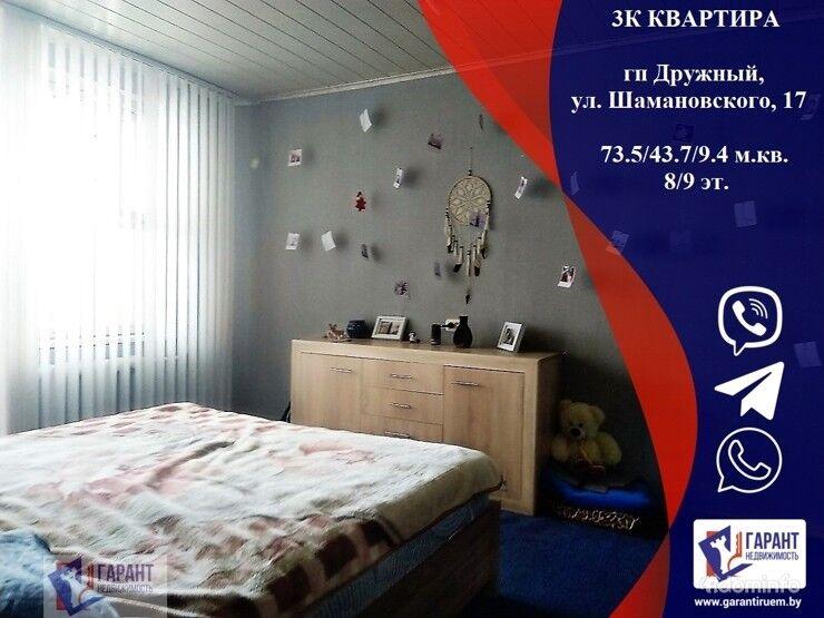 3-комнатная квартира в п. Дружный, ул. Шамановского, 17 — фото 1