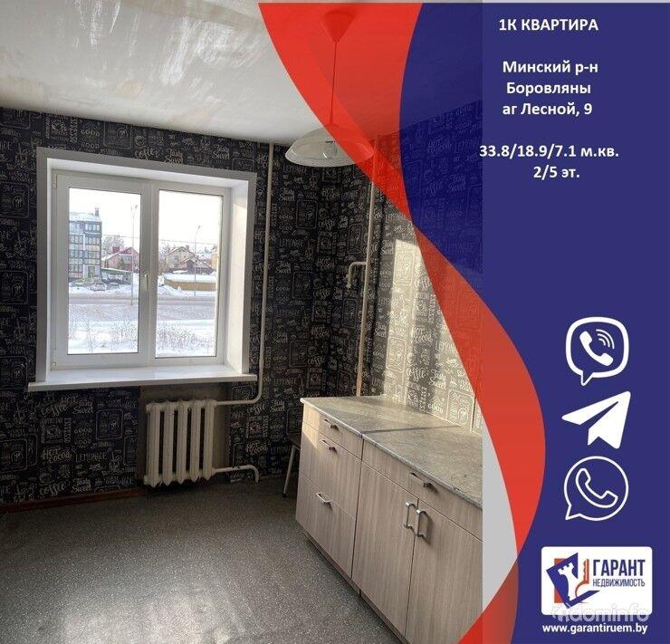 1-комнатная квартира в Боровлянах, аг. Лесной, д.9 — фото 1
