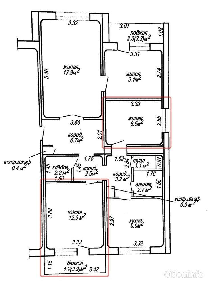Комната в квартире, Фаниполь, Железнодорожная ул. 62 — фото 1